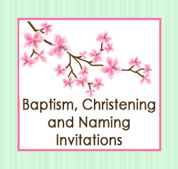 Baptism, Christening and Naming Day Photo Invitations