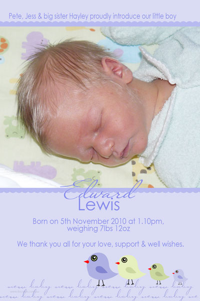 photo cards and birth announcements