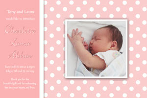 Girl baptism christening and naming day photo invitations and photo thank you cards
