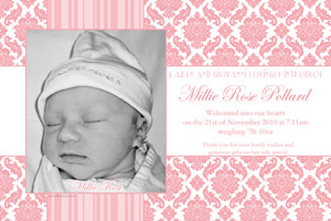 birth announcements and baby thank you cards