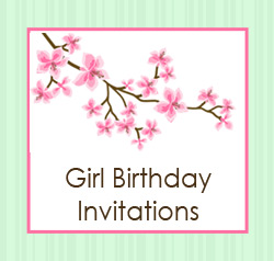 Girls Birthday Invitations