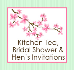 Kitchen Tea, Bridal Shower and Hens Invitations