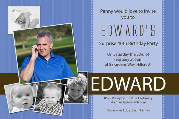 Birthday Invitations and Thank you Photo Cards for 18th, 21st, 30th, 40th and other Adult Birthdays AI14-Photo cards, photo card, invitation, invitations, photo invitations, photo invitation, baby shower invitation, baby shower photo invitation, baby shower invitaitons, baby shower photo invitations,
