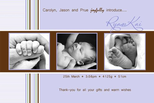 Birth Announcements and Baby Thank You Photo Cards for Boys 3 boxes – Personalised Birth Announcements