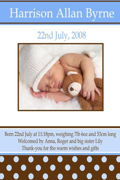 Birth Announcements and Baby Thank You Photo Cards for Boys - BA12-Photo cards, personalised photo cards, photocards, personalised photocards, baby cards, birth announcements, personalised birth announcements, christening invitations, personalised christening invitations, personalised invitations, personalised announcements, invitations, announcements, photo invitations, personalised photo invitations, personalised photo announcements, announcement cards, announcement photo cards, photo christening invitations, photo announcements, birthday invitations, personalised birthday invitations, photo birthday invitations, photocard birth announcements, photo card birth announcements, personalised photo card birth announcement, personalised photo birthday invitation, personalised invites, birth celebrations, personalised celebrations, personalised birth celebrations, baptism invitations, personalised baptism invitations, personalised photo baptism invitations, pregnancy announcements, pregnancy announcement cards,  pregnancy cards, personalised pregnancy announcements, personalised pregnancy announcement cards, personalised pregnancy cards, baby shower invitations, personalised baby shower invitations, engagement invitations, personalised engagement invitations, photo engagement invitations, personalised photo engagement invitations, engagement photo cards, save the date cards, personalised save the date cards, photo save the date cards, wedding thank-you cards, personalised wedding thank-you cards, wedding thank-you photo cards,