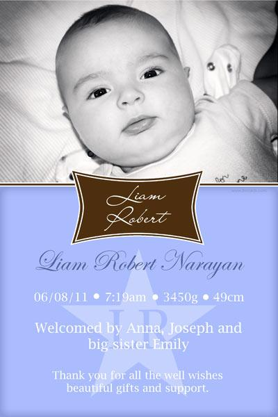 Birth Announcements Photo Cards Photo Thank You With Name Plaque – Birth Announcements and Thank You Cards