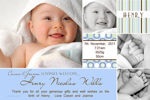 Birth Announcements Photo Cards Photo Thank You Patterned Banner