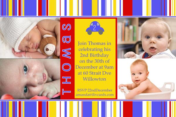Birthday Invitations and Thank you Photo Cards for Boys BB13-Photo cards, personalised photo cards, photocards, personalised photocards, personalised invitations, photo invitations, personalised photo invitations, invitation cards, invitation photo cards, photo invites, photocard birthday invites, photo card birth invites, personalised photo card birthday invitations, thank-you photo cards,