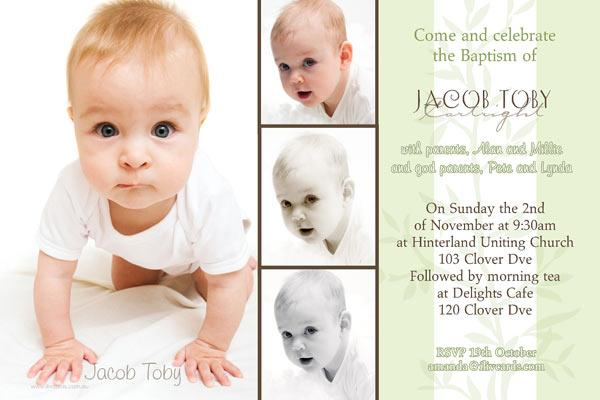 Baptism christening and naming invitations for boys in green blue baptism christening and naming day invitations and thank you photo cards for boys bc06 stopboris Gallery