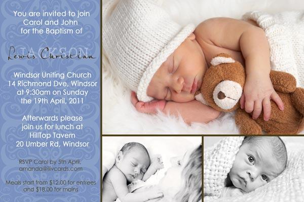 Baptism, Christening and Naming Day Invitations and Thank You Photo Cards for Boys - BC10-Photo cards, personalised photo cards, photocards, personalised photocards, personalised invitations, photo invitations, personalised photo invitations, invitation cards, invitation photo cards, photo invites, photocard birthday invites, photo card birth invites, personalised photo card birthday invitations, thank-you photo cards,