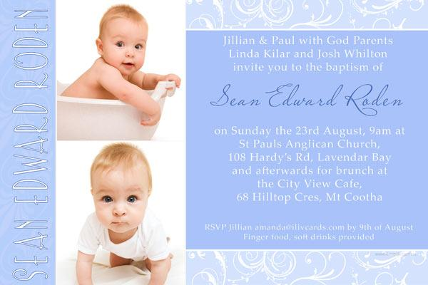 Baptism christening and naming invitations for boys with baptism christening and naming invitations for boys with chocolate patterned border stopboris Images