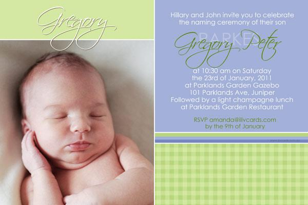 Baptism christening and naming invitations for boys with lime baptism christening and naming invitations for boys with lime gingham pattern stopboris