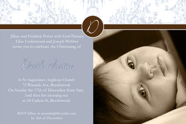 Baptism, Christening and Naming Day Invitations and Thank You Photo Cards for Boys - BC14-Photo cards, personalised photo cards, photocards, personalised photocards, personalised invitations, photo invitations, personalised photo invitations, invitation cards, invitation photo cards, photo invites, photocard birthday invites, photo card birth invites, personalised photo card birthday invitations, thank-you photo cards,