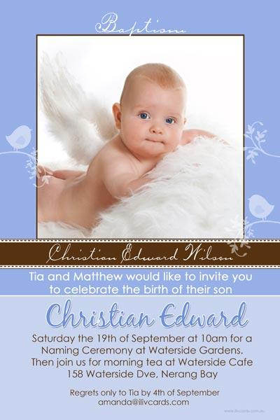 Baptism, Christening and Naming Day Invitations and Thank You Photo Cards for Boys - BC15-Photo cards, personalised photo cards, photocards, personalised photocards, personalised invitations, photo invitations, personalised photo invitations, invitation cards, invitation photo cards, photo invites, photocard birthday invites, photo card birth invites, personalised photo card birthday invitations, thank-you photo cards,