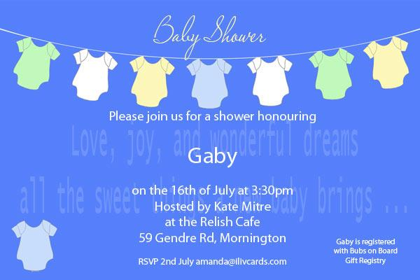 Baby Shower Photo Invitation - Baby clothes line blue-Photo cards, photo card, invitation, invitations, photo invitations, photo invitation, baby shower invitation, baby shower photo invitation, baby shower invitaitons, baby shower photo invitations,