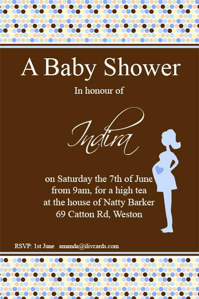 Baby Shower Photo Invitation - Bumpy Spots in Blue