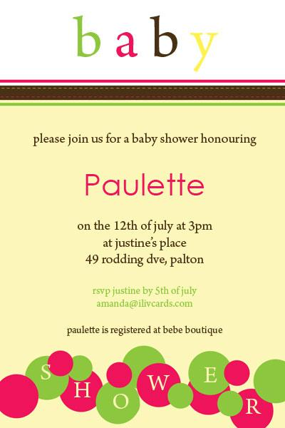 Baby Shower Photo Invitation - Lemon Bubbles-Photo cards, photo card, invitation, invitations, photo invitations, photo invitation, baby shower invitation, baby shower photo invitation, baby shower invitaitons, baby shower photo invitations,