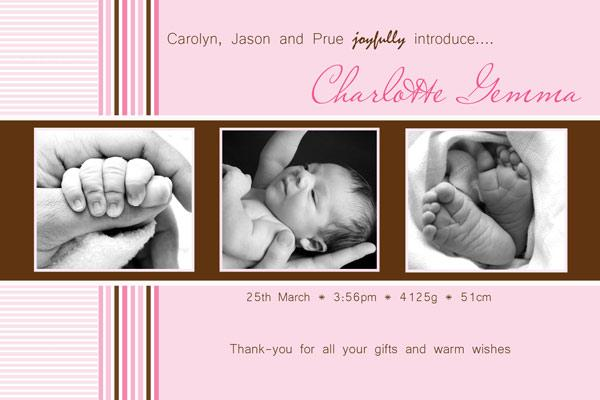 Birth Announcements and Baby Thank You Photo Cards for Girls - GA09-Photo cards, personalised photo cards, photocards, personalised photocards, baby cards, personalised baby cards, birth announcements, personalised birth announcements, christening invitations, personalised christening invitations, personalised invitations, personalised announcements, invitations, announcements, photo invitations, photo announcements, personalised photo invitations, personalised photo announcements, announcement cards, announcement photo cards, photo christening invitations, photo announcements, birthday invitations, personalised birthday invitations, photo birthday invitations, photocard birth announcements, photo card birth announcements, personalised photo card birth announcement, personalised photo birthday invitation, personalised invites, birth celebrations, personalised celebrations, personalised birth celebrations, baptism invitations, personalised baptism invitations, personalised photo baptism invitations, pregnancy announcements, pregnancy announcement cards,  pregnancy cards, personalised pregnancy announcements, personalised pregnancy announcement cards, personalised pregnancy cards, baby shower invitations, personalised baby shower invitations, engagement invitations, personalised engagement invitations, photo engagement invitations, personalised photo engagement invitations, engagement photo cards, save the date cards, personalised save the date cards, photo save the date cards, wedding thank-you cards, personalised wedding thank-you cards, wedding thank-you photo cards,
