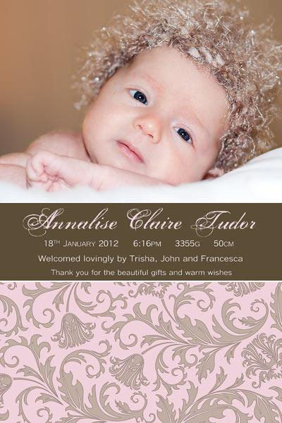 Birth Announcements and Baby Thank You Photo Cards for Girls with – Birth Announcements and Thank You Cards