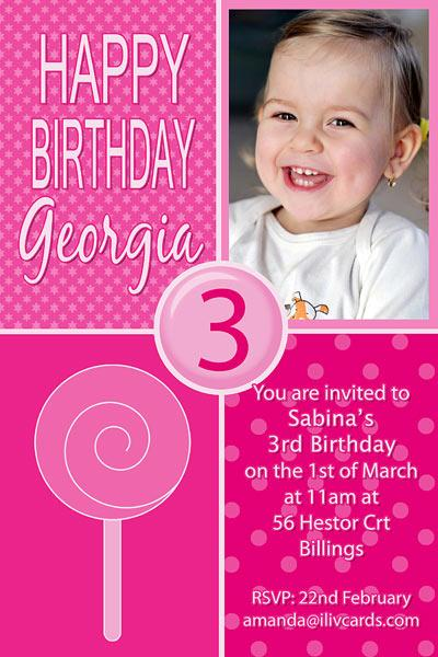 Birthday Invitations and Thank you Photo Cards for Girls - GB12-Photo cards, personalised photo cards, photocards, personalised photocards, personalised invitations, photo invitations, personalised photo invitations, invitation cards, invitation photo cards, photo invites, photocard birthday invites, photo card birth invites, personalised photo card birthday invitations, thank-you photo cards,
