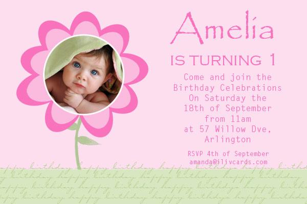 baby girl birthday invitation card koni polycode co