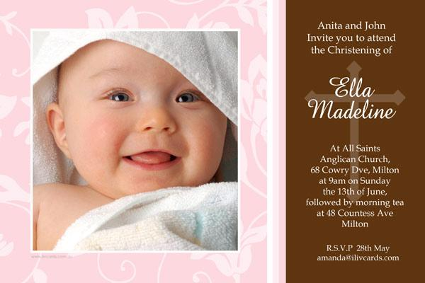 Christening, Baptism and Naming Day Invitations Photo Cards and Thank You Cards for Girls - GC03-Photo cards, personalised photo cards, photocards, personalised photocards, personalised invitations, photo invitations, personalised photo invitations, invitation cards, invitation photo cards, photo invites, photocard birthday invites, photo card birth invites, personalised photo card birthday invitations, thank-you photo cards,