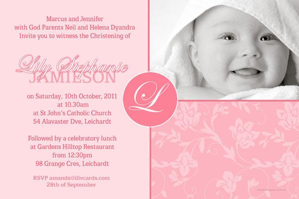 Baptism christening and naming invitations for girls with 4 shaded christening baptism and naming day invitations photo cards and thank you cards for girls stopboris