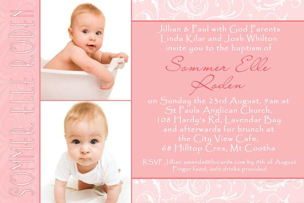Photo Cards for Christening Baptism and Naming Day Invitations with