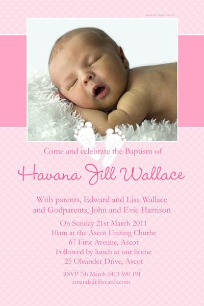 Baptism christening and naming invitations for girls stopboris Image collections