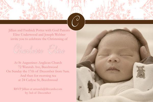 Christening, Baptism and Naming Day Invitations Photo Cards and Thank You Cards for Girls - GC14-Photo cards, personalised photo cards, photocards, personalised photocards, personalised invitations, photo invitations, personalised photo invitations, invitation cards, invitation photo cards, photo invites, photocard birthday invites, photo card birth invites, personalised photo card birthday invitations, thank-you photo cards,