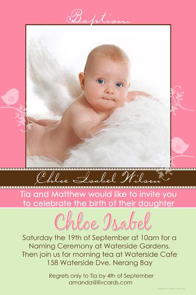 Christening, Baptism and Naming Day Invitations Photo Cards and Thank You Cards for Girls - GC15-Photo cards, personalised photo cards, photocards, personalised photocards, personalised invitations, photo invitations, personalised photo invitations, invitation cards, invitation photo cards, photo invites, photocard birthday invites, photo card birth invites, personalised photo card birthday invitations, thank-you photo cards,
