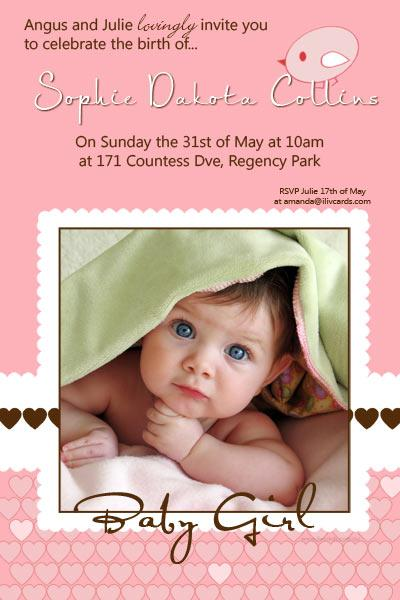 Baby Shower Invites For Girls is beautiful invitation template