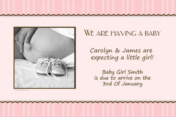 Pregnancy Announcements Photo Cards - PA06-Photo cards, pregnancy announcements, pregnancy announcement cards, personalised cards, personalised photo cards, personalised pregnancy announcements