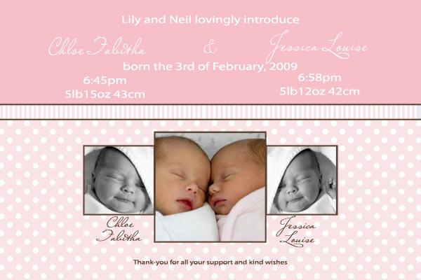 Birth Announcements and Baby Thank You Photo Cards for Twin Boy and Girl - TA06-Photo cards, personalised photo cards, photocards, personalised photocards, baby cards, personalised baby cards, birth announcements, personalised birth announcements, christening invitations, personalised christening invitations, personalised invitations, personalised announcements, invitations, announcements, photo invitations, photo announcements, personalised photo invitations, personalised photo announcements, announcement cards, announcement photo cards, photo christening invitations, photo announcements, birthday invitations, personalised birthday invitations, photo birthday invitations, photocard birth announcements, photo card birth announcements, personalised photo card birth announcement, personalised photo birthday invitation, personalised invites, birth celebrations, personalised celebrations, personalised birth celebrations, baptism invitations, personalised baptism invitations, personalised photo baptism invitations, pregnancy announcements, pregnancy announcement cards,  pregnancy cards, personalised pregnancy announcements, personalised pregnancy announcement cards, personalised pregnancy cards, baby shower invitations, personalised baby shower invitations, engagement invitations, personalised engagement invitations, photo engagement invitations, personalised photo engagement invitations, engagement photo cards, save the date cards, personalised save the date cards, photo save the date cards, wedding thank-you cards, personalised wedding thank-you cards, wedding thank-you photo cards,