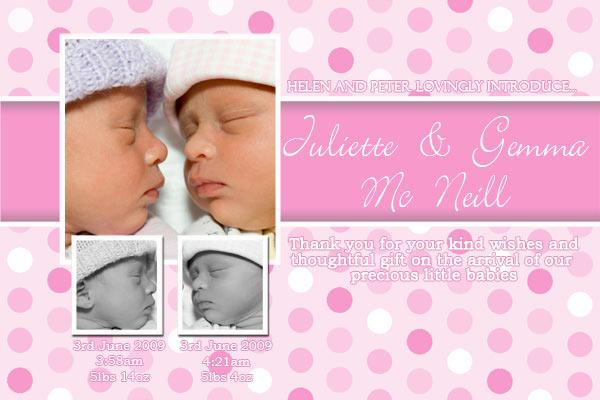 Birth Announcements and Baby Thank You Photo Cards for Twin Boy and Girl - TA09-Photo cards, personalised photo cards, photocards, personalised photocards, baby cards, personalised baby cards, birth announcements, personalised birth announcements, christening invitations, personalised christening invitations, personalised invitations, personalised announcements, invitations, announcements, photo invitations, photo announcements, personalised photo invitations, personalised photo announcements, announcement cards, announcement photo cards, photo christening invitations, photo announcements, birthday invitations, personalised birthday invitations, photo birthday invitations, photocard birth announcements, photo card birth announcements, personalised photo card birth announcement, personalised photo birthday invitation, personalised invites, birth celebrations, personalised celebrations, personalised birth celebrations, baptism invitations, personalised baptism invitations, personalised photo baptism invitations, pregnancy announcements, pregnancy announcement cards,  pregnancy cards, personalised pregnancy announcements, personalised pregnancy announcement cards, personalised pregnancy cards, baby shower invitations, personalised baby shower invitations, engagement invitations, personalised engagement invitations, photo engagement invitations, personalised photo engagement invitations, engagement photo cards, save the date cards, personalised save the date cards, photo save the date cards, wedding thank-you cards, personalised wedding thank-you cards, wedding thank-you photo cards,