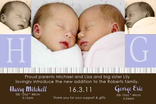 Birth Announcements and Baby Thank You Photo Cards for Twin Boys - TB09-Photo cards, personalised photo cards, photocards, personalised photocards, baby cards, personalised baby cards, birth announcements, personalised birth announcements, christening invitations, personalised christening invitations, personalised invitations, personalised announcements, invitations, announcements, photo invitations, photo announcements, personalised photo invitations, personalised photo announcements, announcement cards, announcement photo cards, photo christening invitations, photo announcements, birthday invitations, personalised birthday invitations, photo birthday invitations, photocard birth announcements, photo card birth announcements, personalised photo card birth announcement, personalised photo birthday invitation, personalised invites, birth celebrations, personalised celebrations, personalised birth celebrations, baptism invitations, personalised baptism invitations, personalised photo baptism invitations, pregnancy announcements, pregnancy announcement cards,  pregnancy cards, personalised pregnancy announcements, personalised pregnancy announcement cards, personalised pregnancy cards, baby shower invitations, personalised baby shower invitations, engagement invitations, personalised engagement invitations, photo engagement invitations, personalised photo engagement invitations, engagement photo cards, save the date cards, personalised save the date cards, photo save the date cards, wedding thank-you cards, personalised wedding thank-you cards, wedding thank-you photo cards,