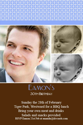 Adult Birthday Invitations for 21st, 30th 40th Birthdays and More AI06-adult photo invitations, photo invitations, adult birthday invitations, 18th birthday invitations, 21st birthday invitations, 30th birthday photo invitations, 40th birthday photo invitations, 50th birthday photo invitations