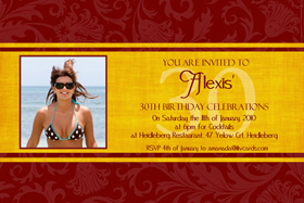 Adult Birthday Invitations for 21st, 30th 40th Birthdays and More AI11-adult photo invitations, photo invitations, adult birthday invitations, 18th birthday invitations, 21st birthday invitations, 30th birthday photo invitations, 40th birthday photo invitations, 50th birthday photo invitations