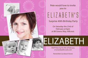 Adult Birthday Invitations for 21st, 30th 40th Birthdays and More AI13-adult photo invitations, photo invitations, adult birthday invitations, 18th birthday invitations, 21st birthday invitations, 30th birthday photo invitations, 40th birthday photo invitations, 50th birthday photo invitations