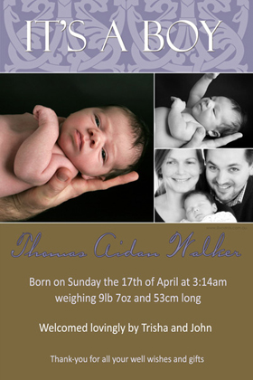 Boy Birth Announcements and Baby Thank You Photo Cards BA05-Photo cards, personalised photo cards, photocards, personalised photocards, baby cards, personalised baby cards, birth announcements, personalised birth announcements, christening invitations, personalised christening invitations, personalised invitations, personalised announcements, invitations, announcements, photo invitations, photo announcements, personalised photo invitations, personalised photo announcements, announcement cards, announcement photo cards, photo christening invitations, photo announcements, birthday invitations, personalised birthday invitations, photo birthday invitations, photocard birth announcements, photo card birth announcements, personalised photo card birth announcement, personalised photo birthday invitation, personalised invites, birth celebrations, personalised celebrations, personalised birth celebrations, baptism invitations, personalised baptism invitations, personalised photo baptism invitations, pregnancy announcements, pregnancy announcement cards,  pregnancy cards, personalised pregnancy announcements, personalised pregnancy announcement cards, personalised pregnancy cards, baby shower invitations, personalised baby shower invitations, engagement invitations, personalised engagement invitations, photo engagement invitations, personalised photo engagement invitations, engagement photo cards, save the date cards, personalised save the date cards, photo save the date cards, wedding thank-you cards, personalised wedding thank-you cards, wedding thank-you photo cards,