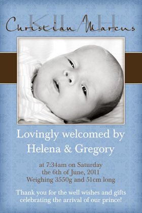 Boy Birth Announcements and Baby Thank You Photo Cards BA41-Photo cards, personalised photo cards, photocards, personalised photocards, baby cards, personalised baby cards, birth announcements, personalised birth announcements, christening invitations, personalised christening invitations, personalised invitations, personalised announcements, invitations, announcements, photo invitations, photo announcements, personalised photo invitations, personalised photo announcements, announcement cards, announcement photo cards, photo christening invitations, photo announcements, birthday invitations, personalised birthday invitations, photo birthday invitations, photocard birth announcements, photo card birth announcements, personalised photo card birth announcement, personalised photo birthday invitation, personalised invites, birth celebrations, personalised celebrations, personalised birth celebrations, baptism invitations, personalised baptism invitations, personalised photo baptism invitations, pregnancy announcements, pregnancy announcement cards,  pregnancy cards, personalised pregnancy announcements, personalised pregnancy announcement cards, personalised pregnancy cards, baby shower invitations, personalised baby shower invitations, engagement invitations, personalised engagement invitations, photo engagement invitations, personalised photo engagement invitations, engagement photo cards, save the date cards, personalised save the date cards, photo save the date cards, wedding thank-you cards, personalised wedding thank-you cards, wedding thank-you photo cards,