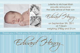 Boy Birth Announcements and Baby Thank You Photo Cards BA43-Photo cards, personalised photo cards, photocards, personalised photocards, baby cards, personalised baby cards, birth announcements, personalised birth announcements, christening invitations, personalised christening invitations, personalised invitations, personalised announcements, invitations, announcements, photo invitations, photo announcements, personalised photo invitations, personalised photo announcements, announcement cards, announcement photo cards, photo christening invitations, photo announcements, birthday invitations, personalised birthday invitations, photo birthday invitations, photocard birth announcements, photo card birth announcements, personalised photo card birth announcement, personalised photo birthday invitation, personalised invites, birth celebrations, personalised celebrations, personalised birth celebrations, baptism invitations, personalised baptism invitations, personalised photo baptism invitations, pregnancy announcements, pregnancy announcement cards,  pregnancy cards, personalised pregnancy announcements, personalised pregnancy announcement cards, personalised pregnancy cards, baby shower invitations, personalised baby shower invitations, engagement invitations, personalised engagement invitations, photo engagement invitations, personalised photo engagement invitations, engagement photo cards, save the date cards, personalised save the date cards, photo save the date cards, wedding thank-you cards, personalised wedding thank-you cards, wedding thank-you photo cards,