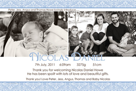 Boy Birth Announcements and Baby Thank You Photo Cards BA50-Photo cards, personalised photo cards, photocards, personalised photocards, baby cards, personalised baby cards, birth announcements, personalised birth announcements, christening invitations, personalised christening invitations, personalised invitations, personalised announcements, invitations, announcements, photo invitations, photo announcements, personalised photo invitations, personalised photo announcements, announcement cards, announcement photo cards, photo christening invitations, photo announcements, birthday invitations, personalised birthday invitations, photo birthday invitations, photocard birth announcements, photo card birth announcements, personalised photo card birth announcement, personalised photo birthday invitation, personalised invites, birth celebrations, personalised celebrations, personalised birth celebrations, baptism invitations, personalised baptism invitations, personalised photo baptism invitations, pregnancy announcements, pregnancy announcement cards,  pregnancy cards, personalised pregnancy announcements, personalised pregnancy announcement cards, personalised pregnancy cards, baby shower invitations, personalised baby shower invitations, engagement invitations, personalised engagement invitations, photo engagement invitations, personalised photo engagement invitations, engagement photo cards, save the date cards, personalised save the date cards, photo save the date cards, wedding thank-you cards, personalised wedding thank-you cards, wedding thank-you photo cards,