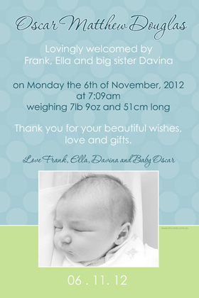 Boy Birth Announcements and Baby Thank You Photo Cards BA53-Photo cards, personalised photo cards, photocards, personalised photocards, baby cards, personalised baby cards, birth announcements, personalised birth announcements, christening invitations, personalised christening invitations, personalised invitations, personalised announcements, invitations, announcements, photo invitations, photo announcements, personalised photo invitations, personalised photo announcements, announcement cards, announcement photo cards, photo christening invitations, photo announcements, birthday invitations, personalised birthday invitations, photo birthday invitations, photocard birth announcements, photo card birth announcements, personalised photo card birth announcement, personalised photo birthday invitation, personalised invites, birth celebrations, personalised celebrations, personalised birth celebrations, baptism invitations, personalised baptism invitations, personalised photo baptism invitations, pregnancy announcements, pregnancy announcement cards,  pregnancy cards, personalised pregnancy announcements, personalised pregnancy announcement cards, personalised pregnancy cards, baby shower invitations, personalised baby shower invitations, engagement invitations, personalised engagement invitations, photo engagement invitations, personalised photo engagement invitations, engagement photo cards, save the date cards, personalised save the date cards, photo save the date cards, wedding thank-you cards, personalised wedding thank-you cards, wedding thank-you photo cards,
