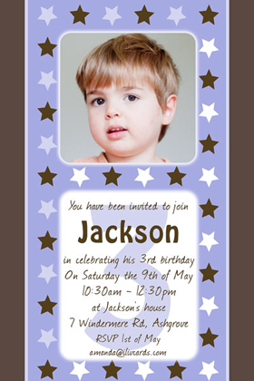 Boy Birthday Invitations and Thank You Photo Cards BB50-