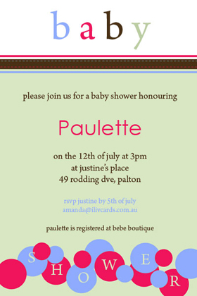 Baby Shower Photo Invitation - Sage Bubbles-Photo cards, photo card, invitation, invitations, photo invitations, photo invitation, baby shower invitation, baby shower photo invitation, baby shower invitaitons, baby shower photo invitations,
