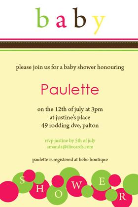 Baby Shower Photo Invitation - Lemon Bubbles-Photo cards, photo card, invitation, invitations, photo invitations, photo invitation, baby shower invitation, baby shower photo invitation, baby shower invitaitons, baby shower photo invitations,