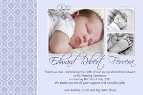 Boy Thank You Photo Cards for Baby, Baptism and Birthday BT01-Photo Cards, Photo invitations, Birth Announcements, Birth Announcement Cards, Christening Photo Invitations, Baptism Photo Invitations, Naming Day Photo Invitaitons, Birthday  Photo Invitations, Pregnancy Announcement Cards,Thankyou Photo Cards