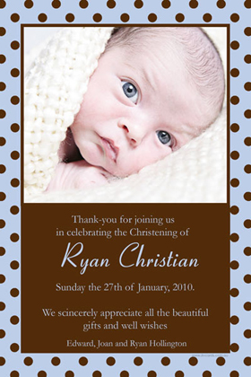Boy Thank You Photo Cards for Baby, Baptism and Birthday BT02-Photo Cards, Photo invitations, Birth Announcements, Birth Announcement Cards, Christening Photo Invitations, Baptism Photo Invitations, Naming Day Photo Invitaitons, Birthday  Photo Invitations, Pregnancy Announcement Cards,Thankyou Photo Cards