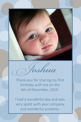 Boy Thank You Photo Cards for Baby, Baptism and Birthday BT04-Photo Cards, Photo invitations, Birth Announcements, Birth Announcement Cards, Christening Photo Invitations, Baptism Photo Invitations, Naming Day Photo Invitaitons, Birthday  Photo Invitations, Pregnancy Announcement Cards,Thankyou Photo Cards